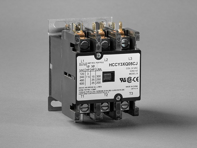 3 pole contactors are typically used in commercial applications  these  contactors utilize three wires to control electrical current direction