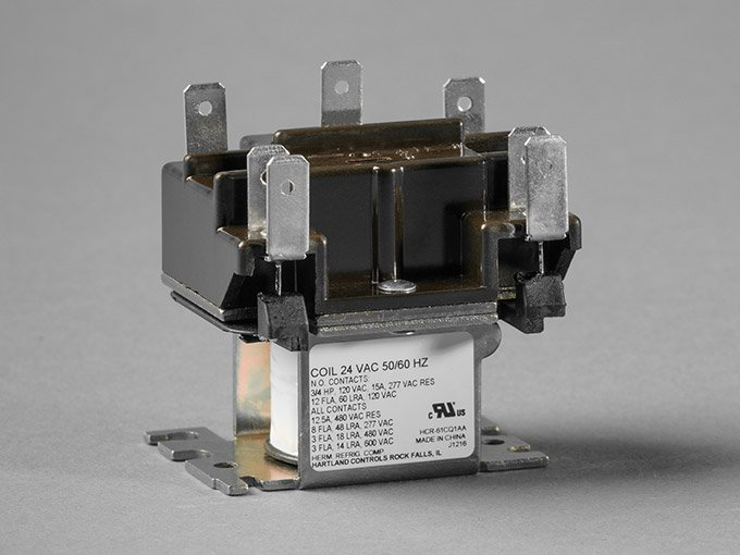 relays control circuits through a low-power signal  an electro-magnetic  current actuates the relay, creating a closed circuit within the device