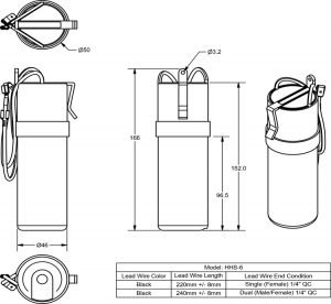 HHS-6 line drawing